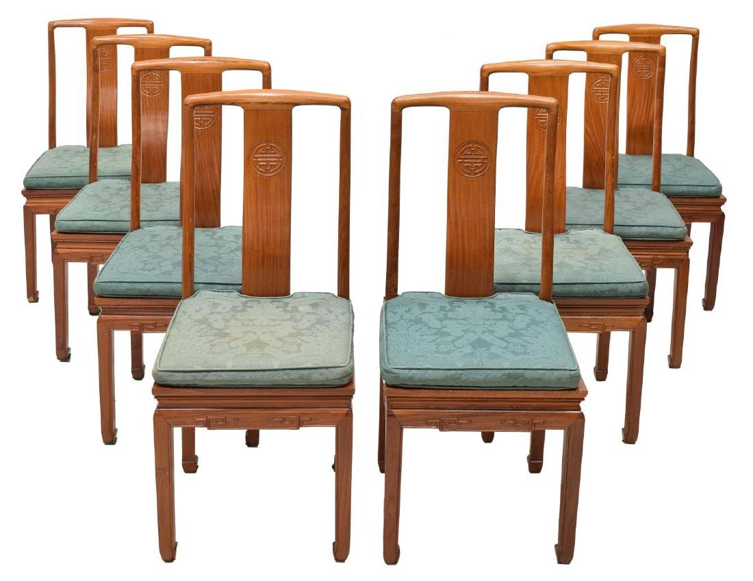 (8) CHINESE HARDWOOD DINING OR SIDE CHAIRS
