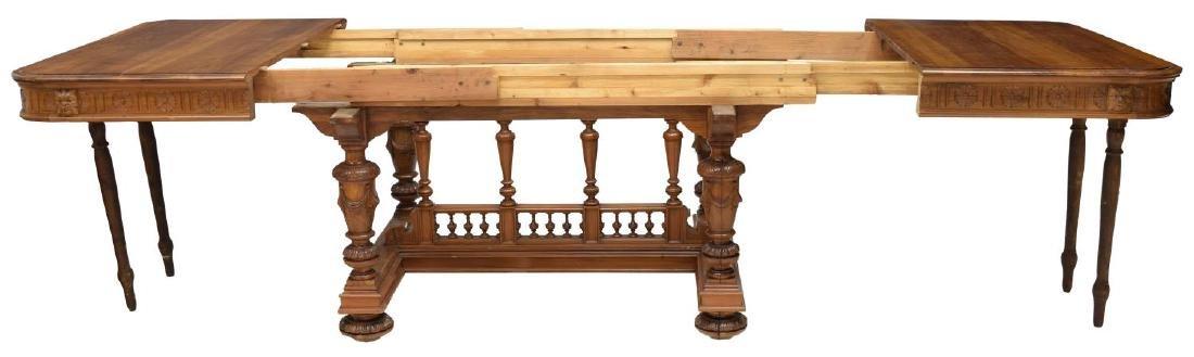 ITALIAN WALNUT BALUSTRADE TRESTLE TABLE, 19TH C. - 3