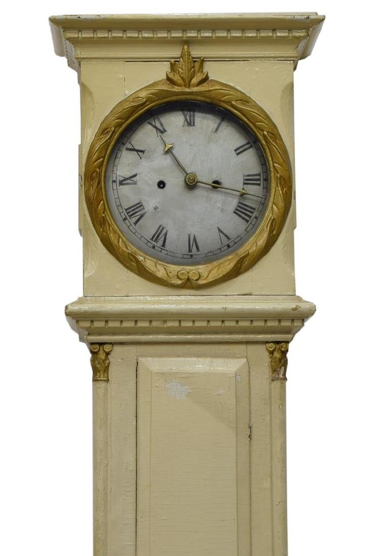 DANISH EMPIRE BORNHOLM PAINTED GRANDFATHER CLOCK