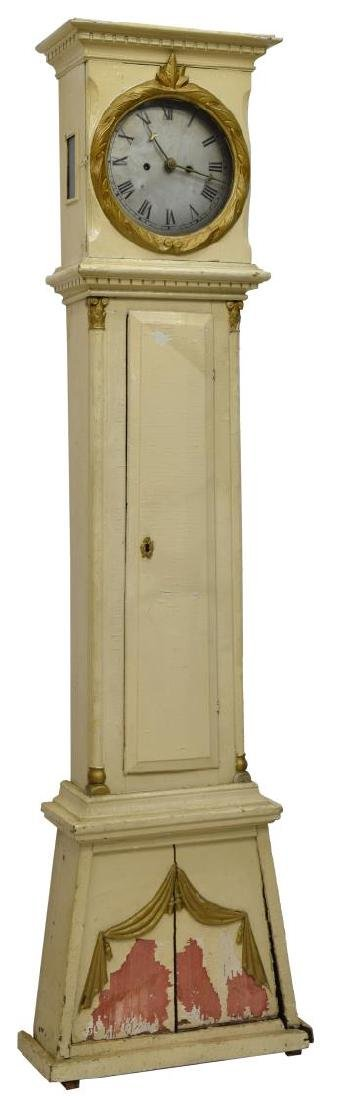 DANISH EMPIRE BORNHOLM PAINTED GRANDFATHER CLOCK - 2