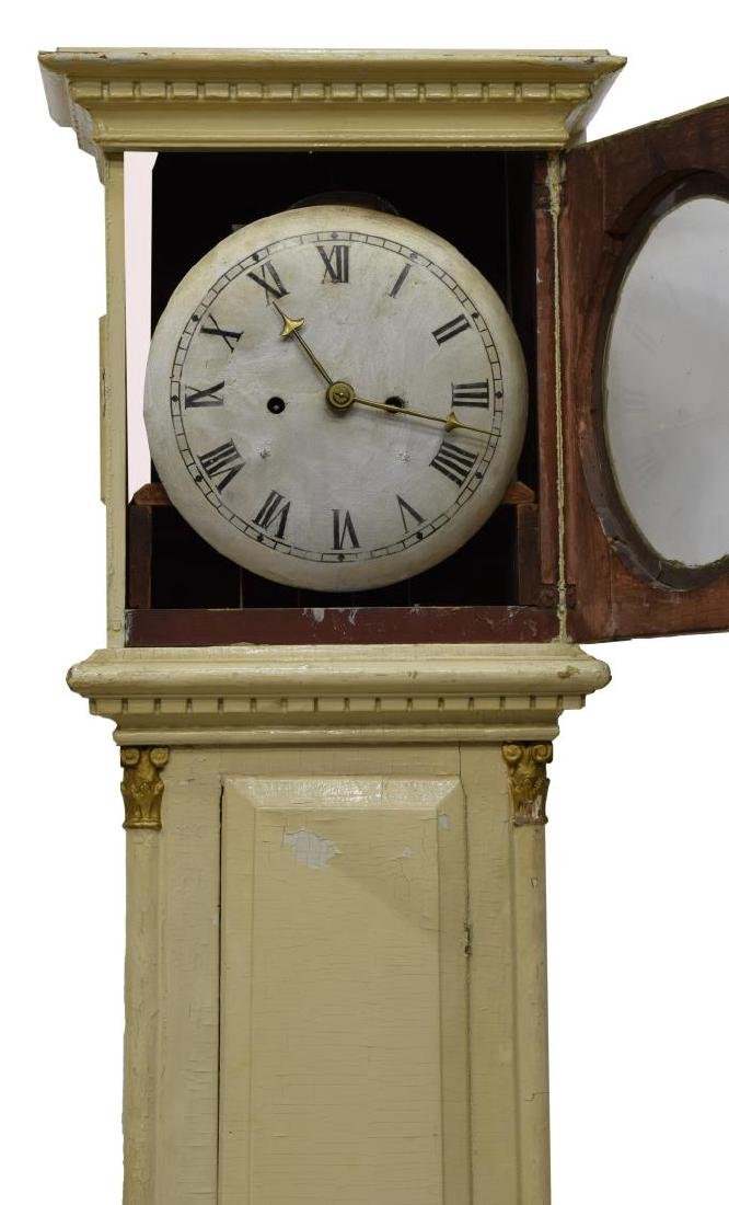 DANISH EMPIRE BORNHOLM PAINTED GRANDFATHER CLOCK - 3