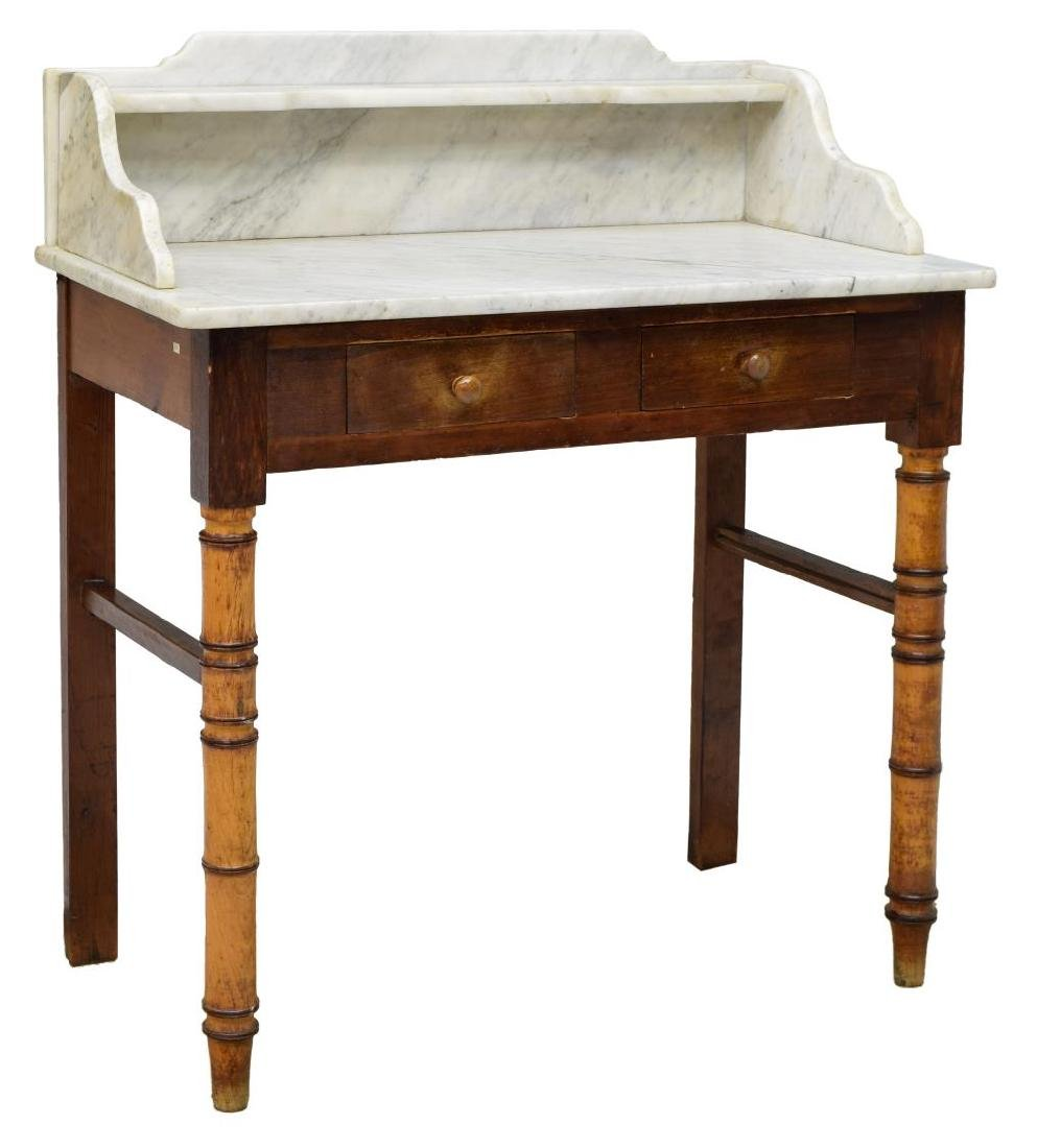 FRENCH MARBLE TOP WASHSTAND