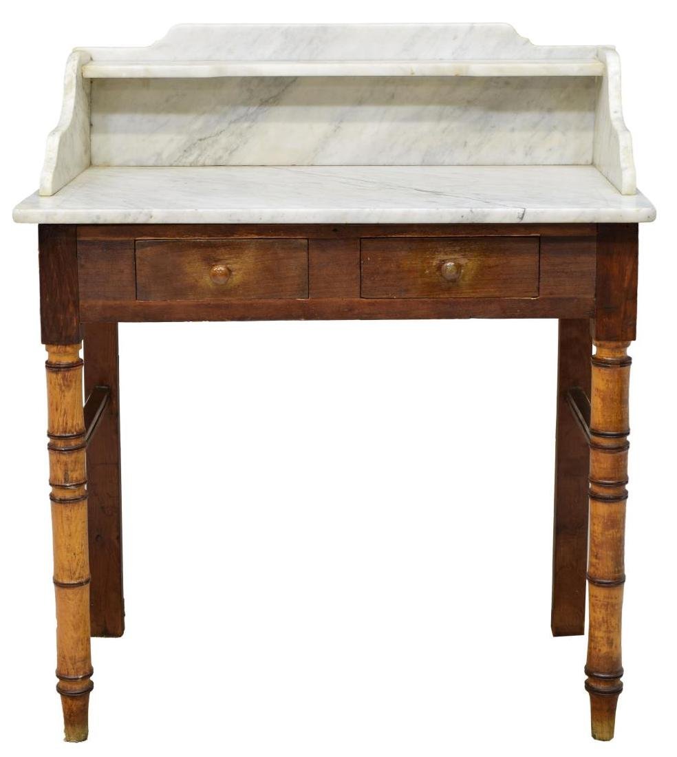 FRENCH MARBLE TOP WASHSTAND - 2