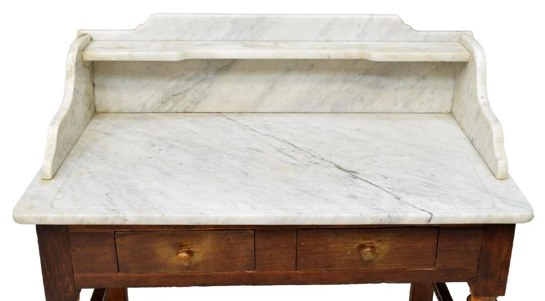 FRENCH MARBLE TOP WASHSTAND - 3