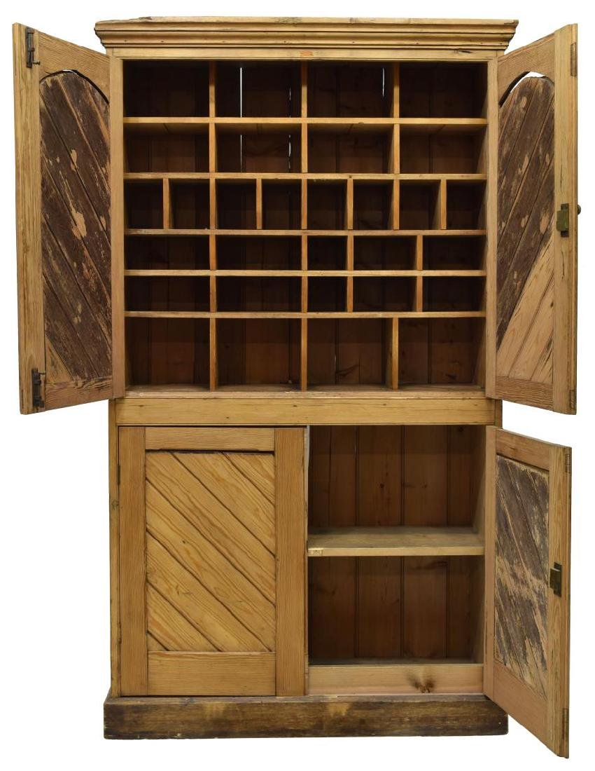 ENGLISH COUNTRY PINE CUPBOARD, 19TH C. - 2