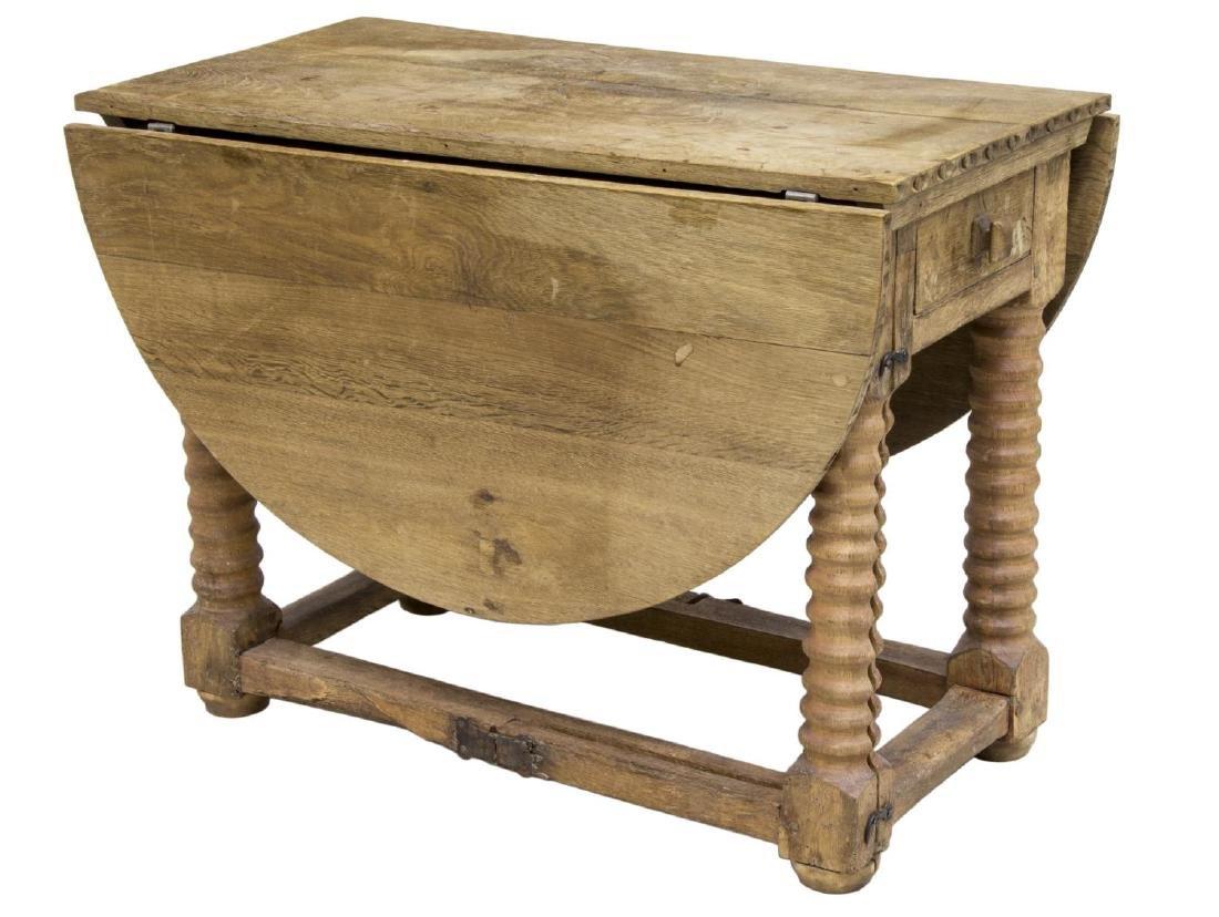 SCANDINAVIAN DROP SIDE WORK TABLE, 19TH C.