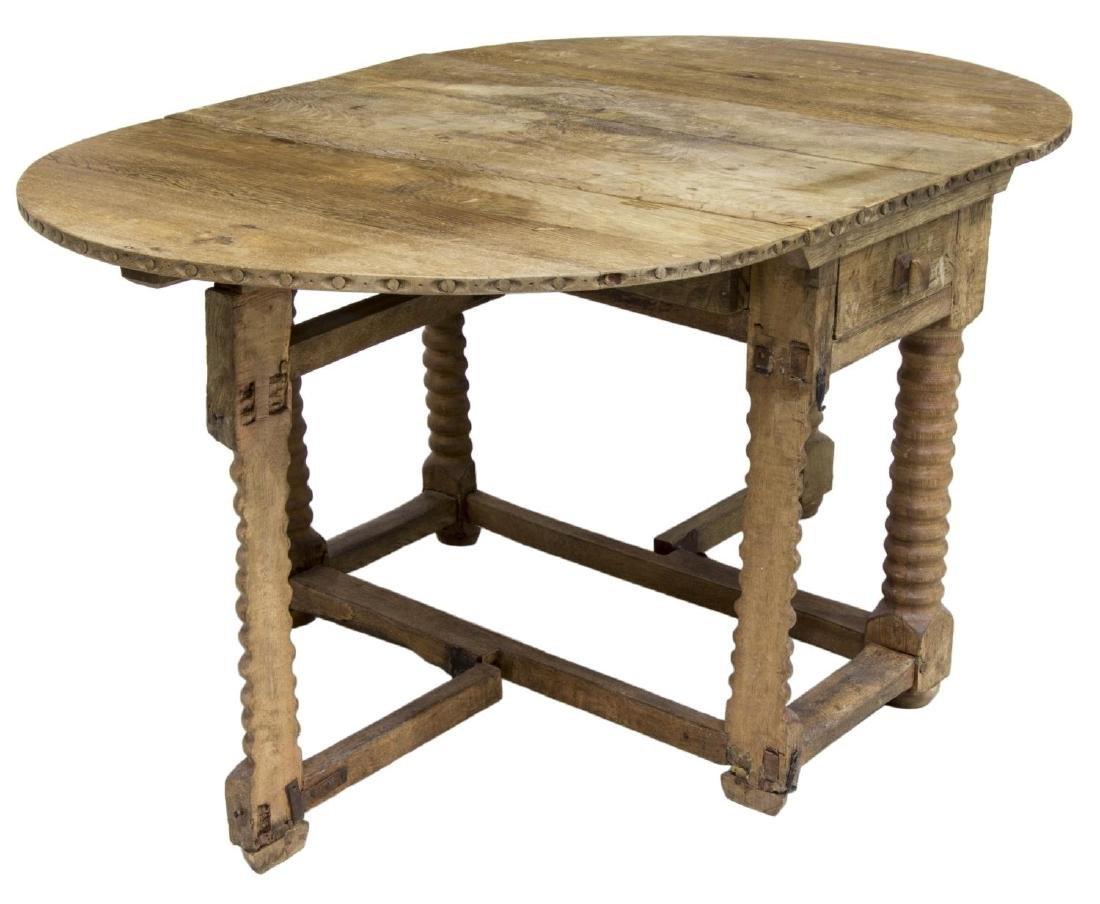 SCANDINAVIAN DROP SIDE WORK TABLE, 19TH C. - 2