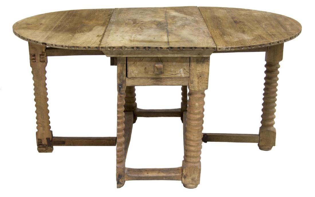 SCANDINAVIAN DROP SIDE WORK TABLE, 19TH C. - 3