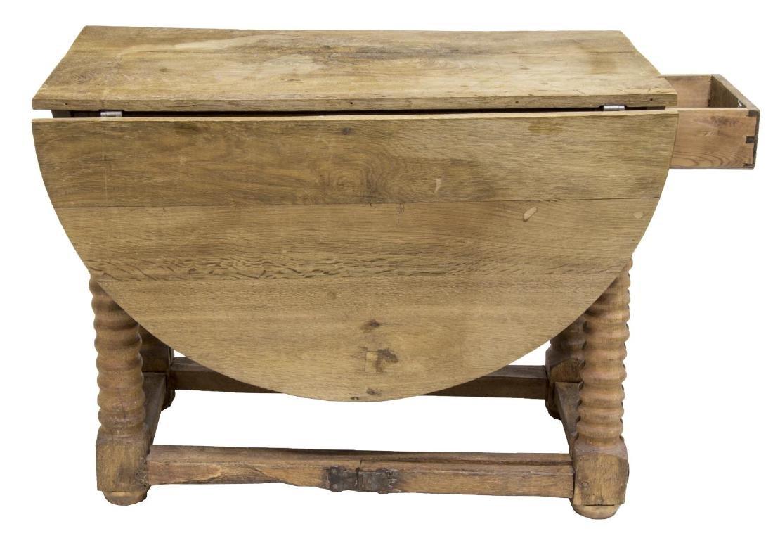 SCANDINAVIAN DROP SIDE WORK TABLE, 19TH C. - 4