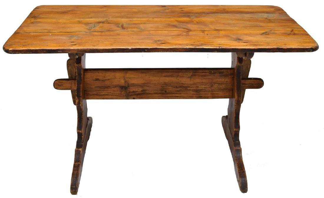 SCANDINAVIAN PINE FARM TABLE - 2