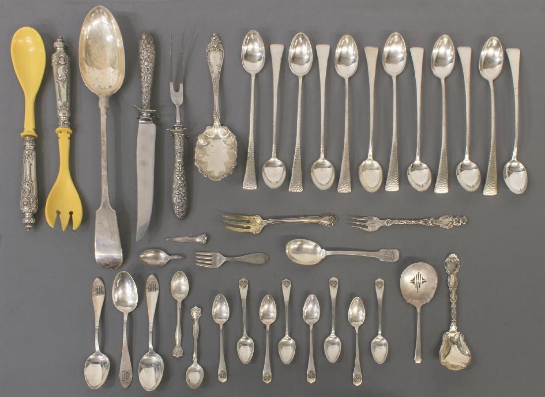 COLLECTION STERLING & SILVER PLATE FLATWARE