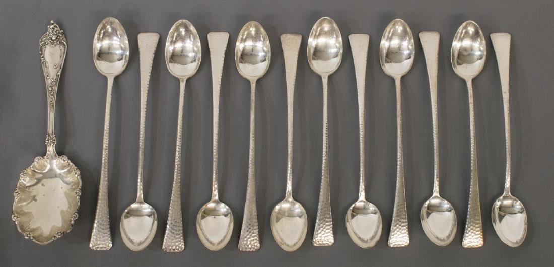 COLLECTION STERLING & SILVER PLATE FLATWARE - 3