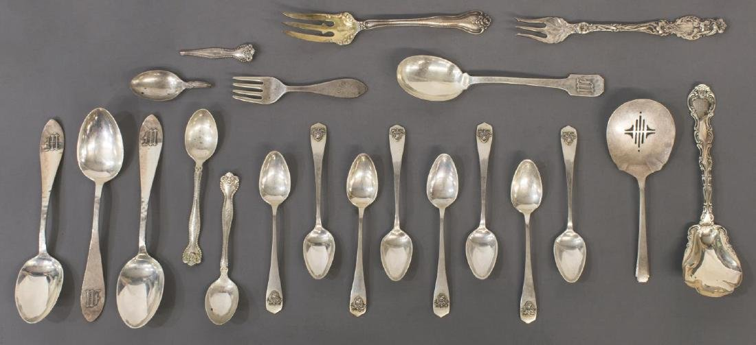 COLLECTION STERLING & SILVER PLATE FLATWARE - 4