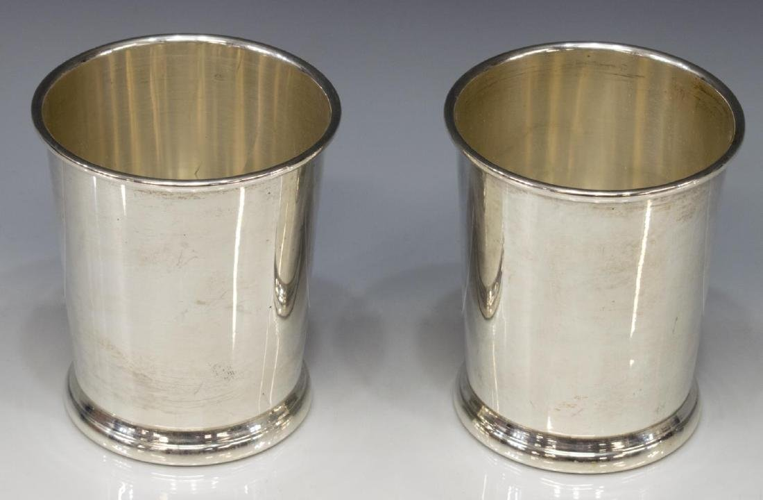 (2) WEB STERLING SILVER MINT JULEP CUPS