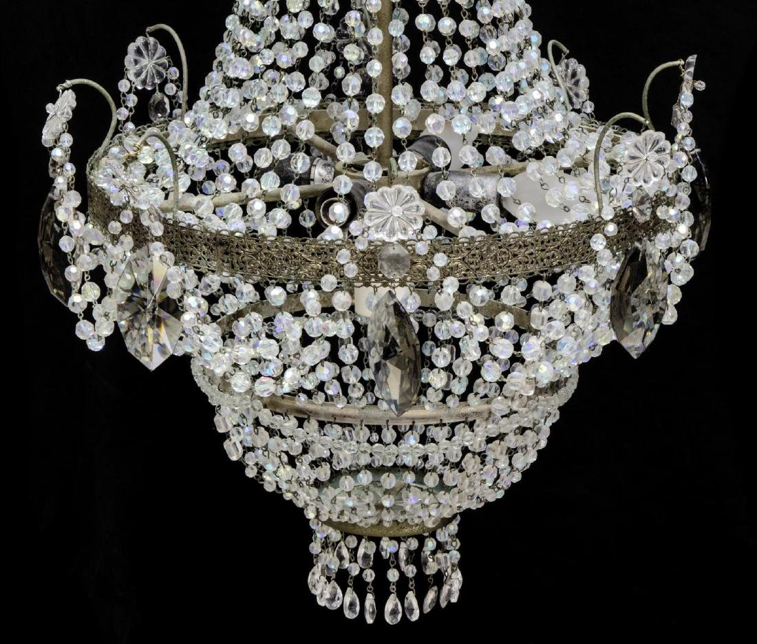 EMPIRE-STYLE FIVE-LIGHT CRYSTAL CHANDELIER