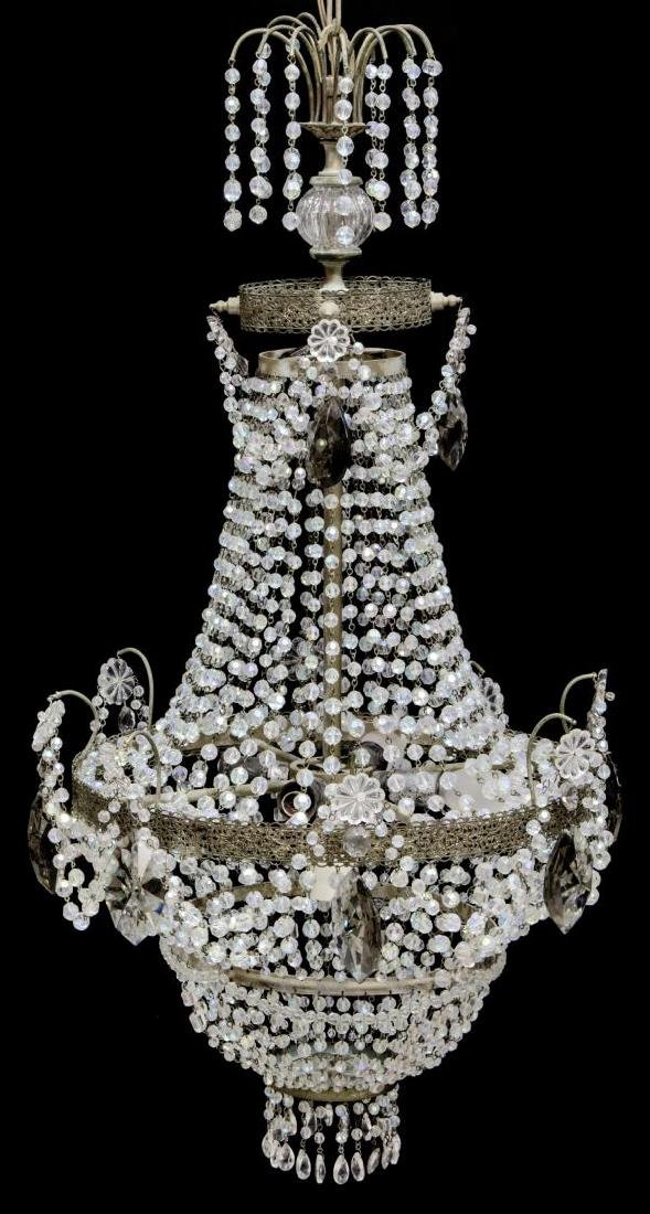EMPIRE-STYLE FIVE-LIGHT CRYSTAL CHANDELIER - 2