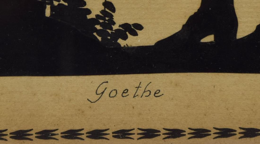 (3) FRAMED SILHOUETTES OF GOETHE & FREDERICK GREAT - 3
