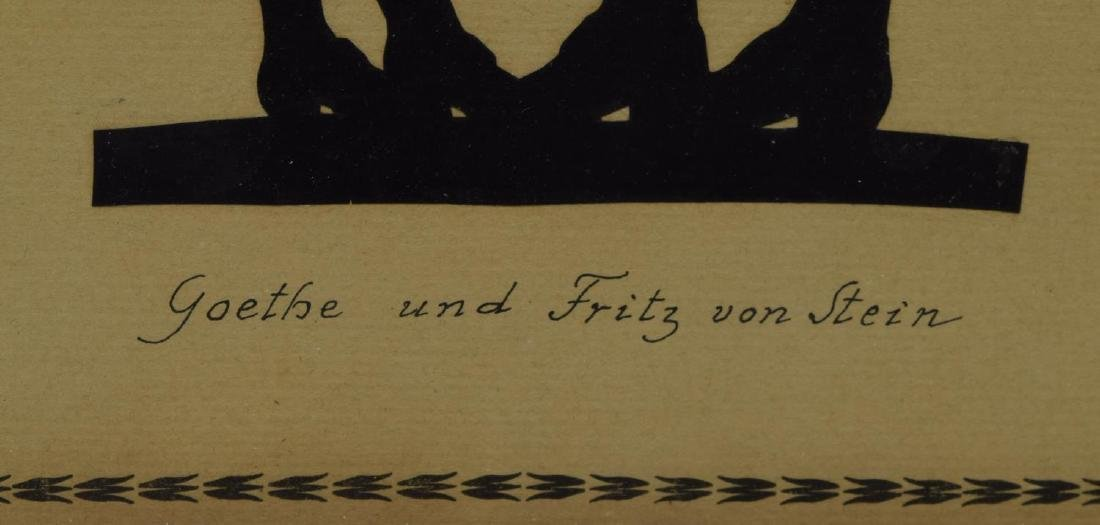 (3) FRAMED SILHOUETTES OF GOETHE & FREDERICK GREAT - 6