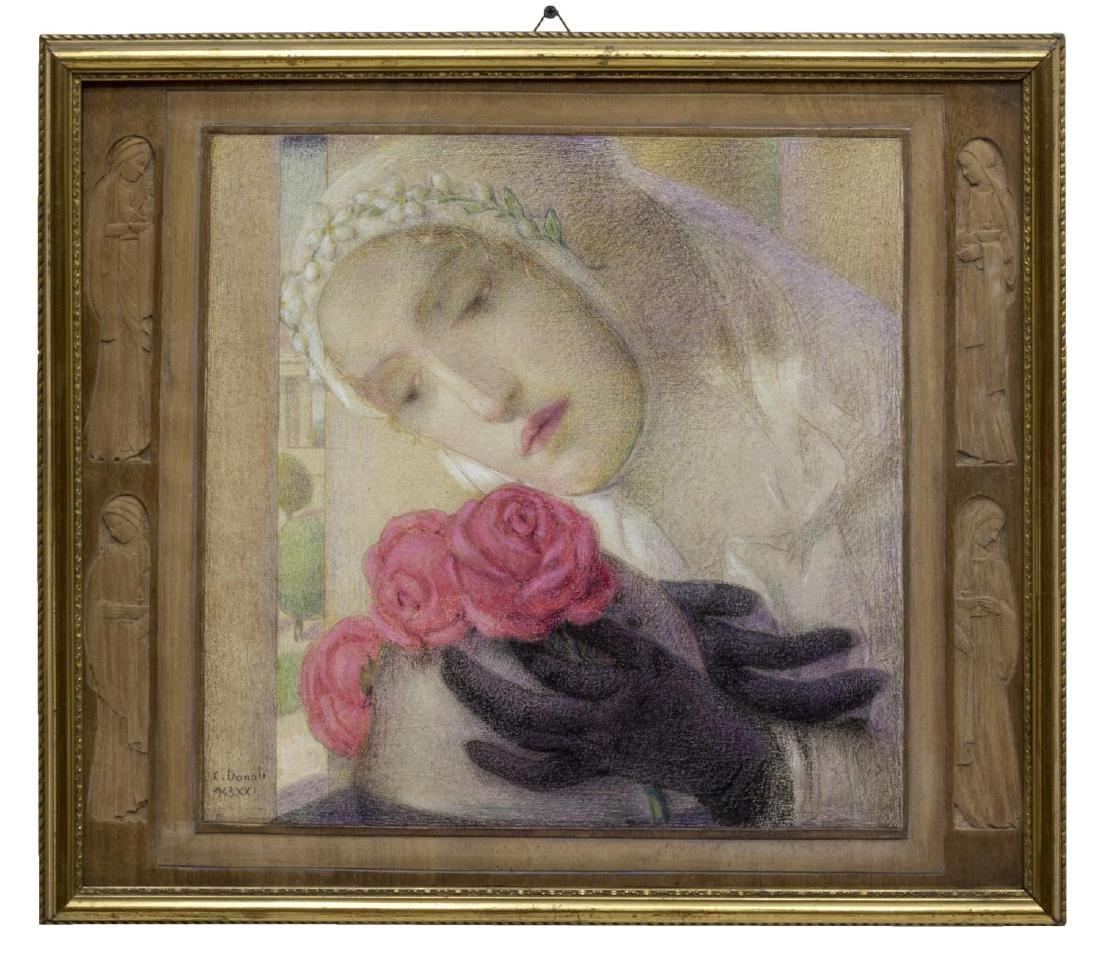 "CARLO DONATI (1874-1949), ""THREE SCARLETT ROSES"" - 2"