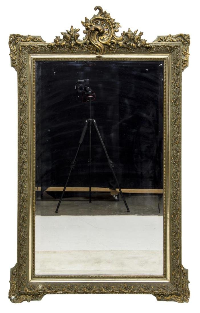ITALIAN LOUIS XV STYLE GILT WOOD WALL MIRROR - 2
