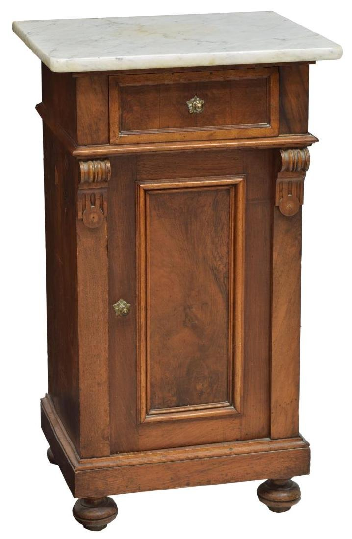 VICTORIAN MARBLE TOP BEDSIDE CABINET
