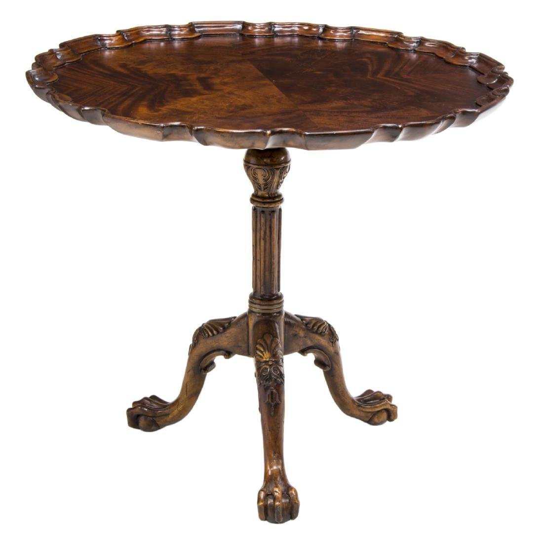 CHIPPENDALE STYLE MAHOGANY SIDE TABLE