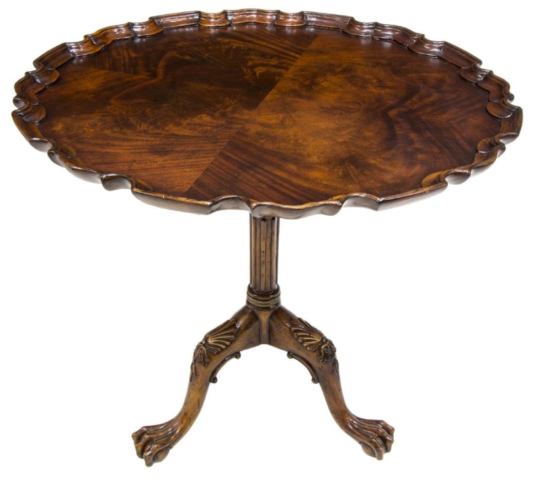 CHIPPENDALE STYLE MAHOGANY SIDE TABLE - 2