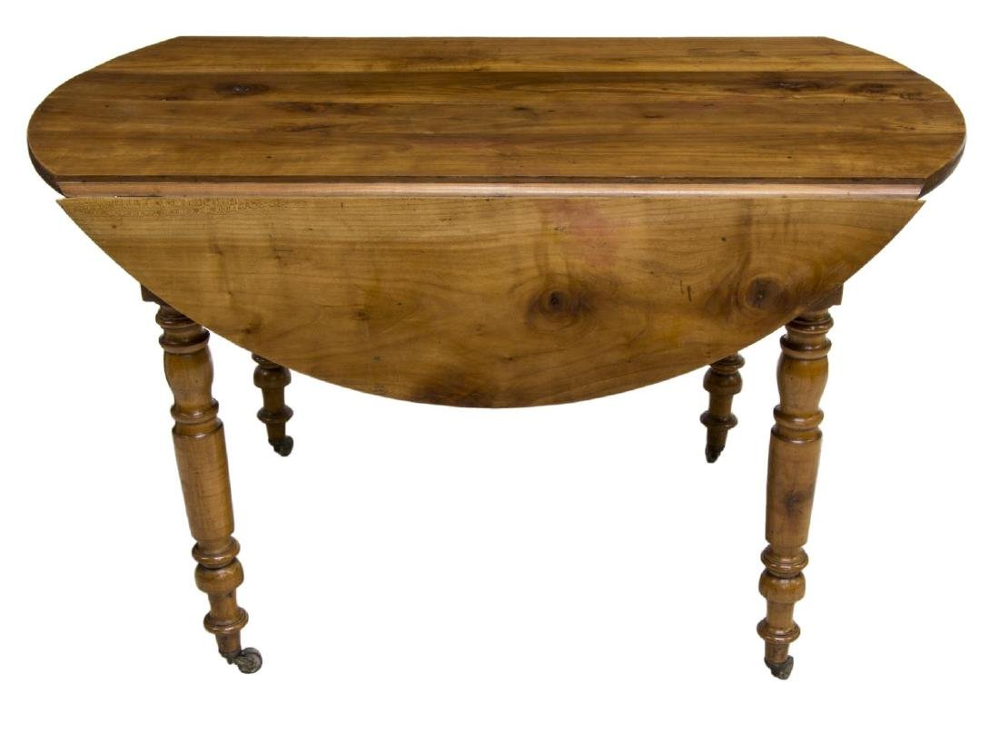 FRENCH CHERRYWOOD DROP LEAF TABLE - 3