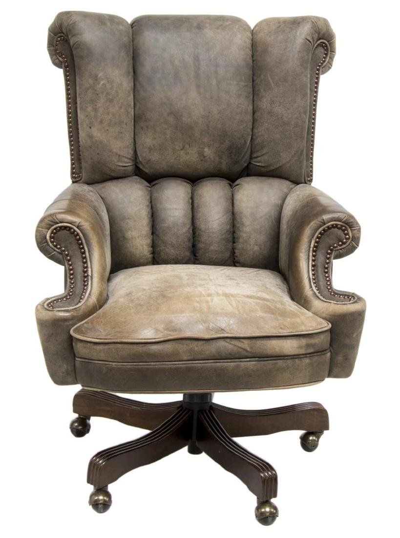 LEATHER SWIVEL OFFICE CHAIR - 2