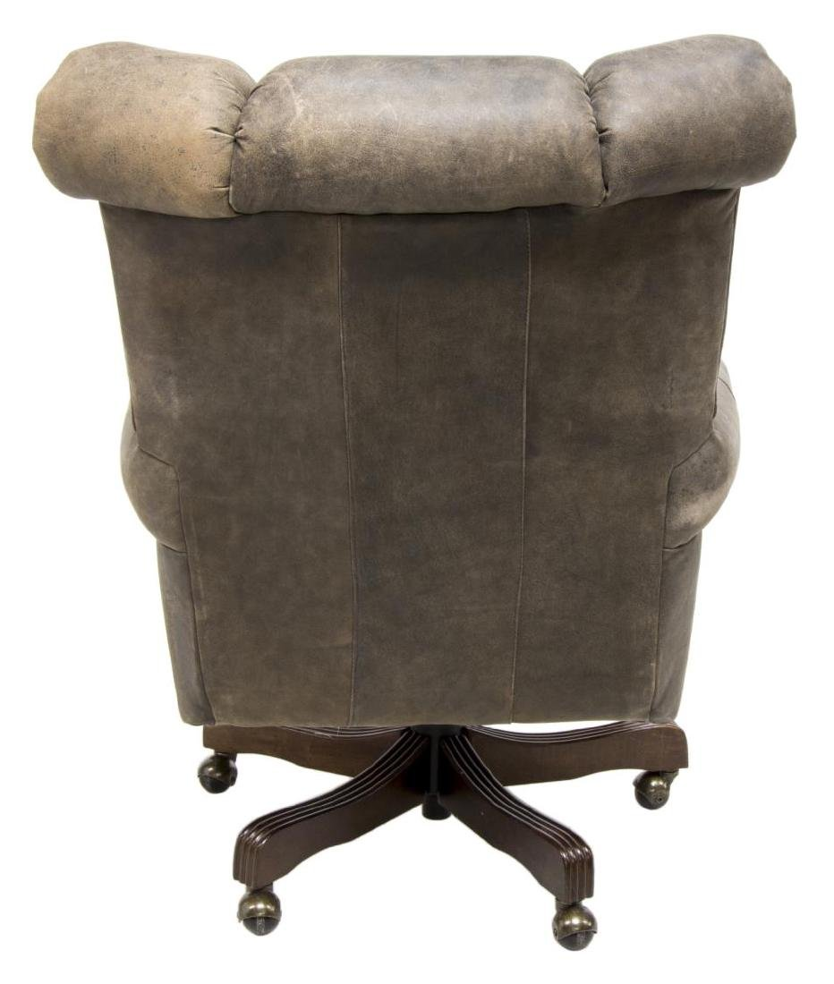 LEATHER SWIVEL OFFICE CHAIR - 3
