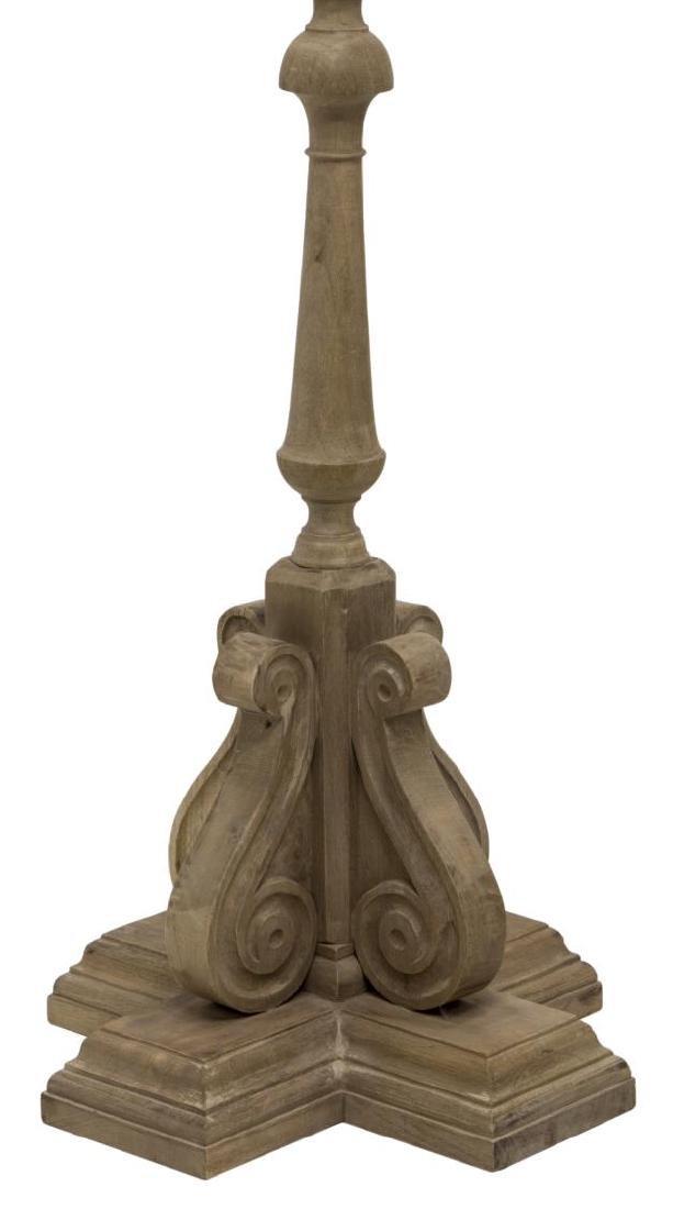 CARVED WOOD FLOOR LAMP