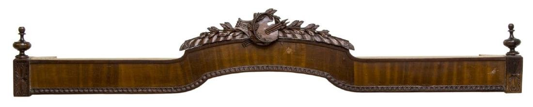 LOUIS XVI STYLE CARVED CORNICE CURTAIN VALANCE - 2