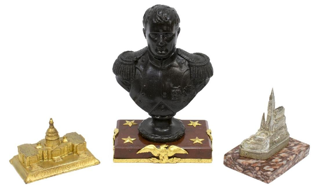 (3) FRENCH BUST OF NAPOLEON & SOUVENIR GROUP