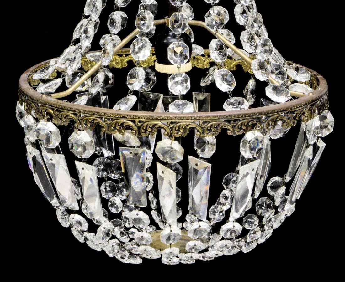 ITALIAN CRYSTAL SINGLE-LIGHT CHANDELIER