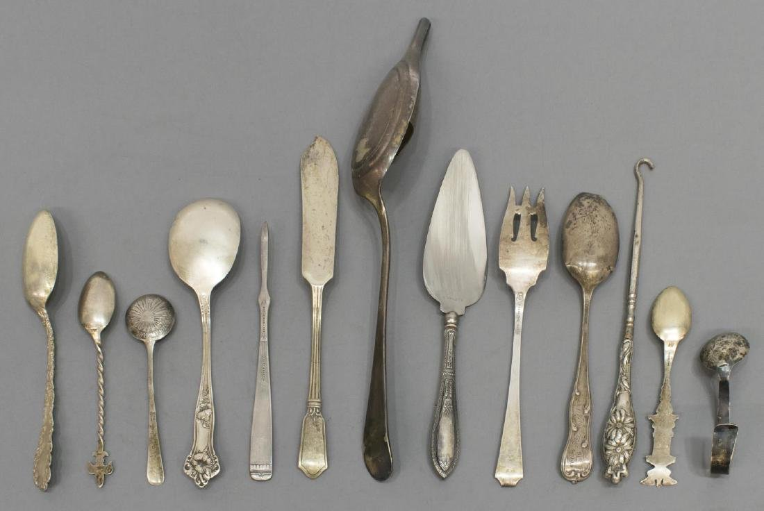 (18) STERLING & SILVERPLATE FLATWARE GROUPING - 3