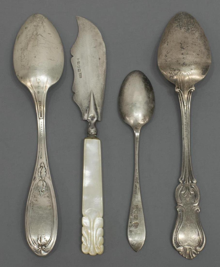 (24) COLLECTION OF STERLING, COIN & PLATE FLATWARE - 3