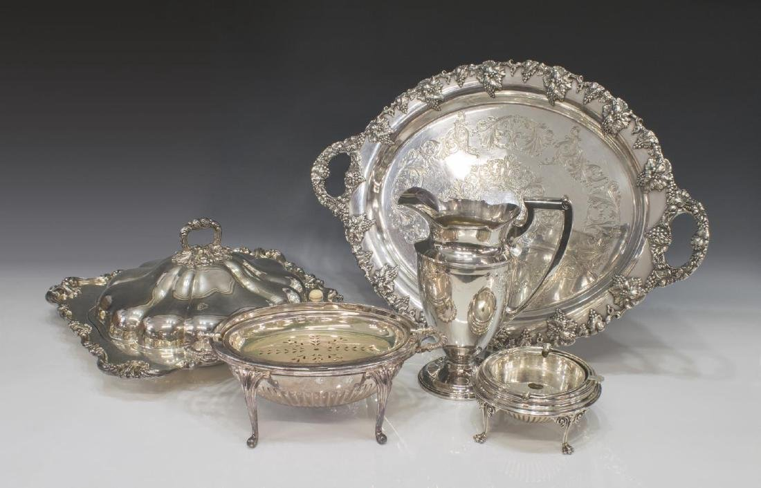 (5) COLLECTION FANCY SILVERPLATE SERVICEWARE