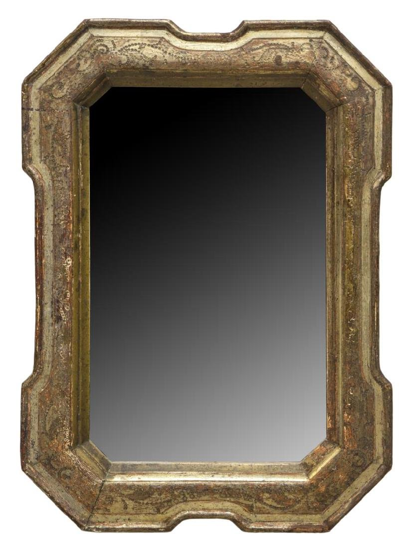ANTIQUE CHARLES X STYLE GILTWOOD WALL MIRROR