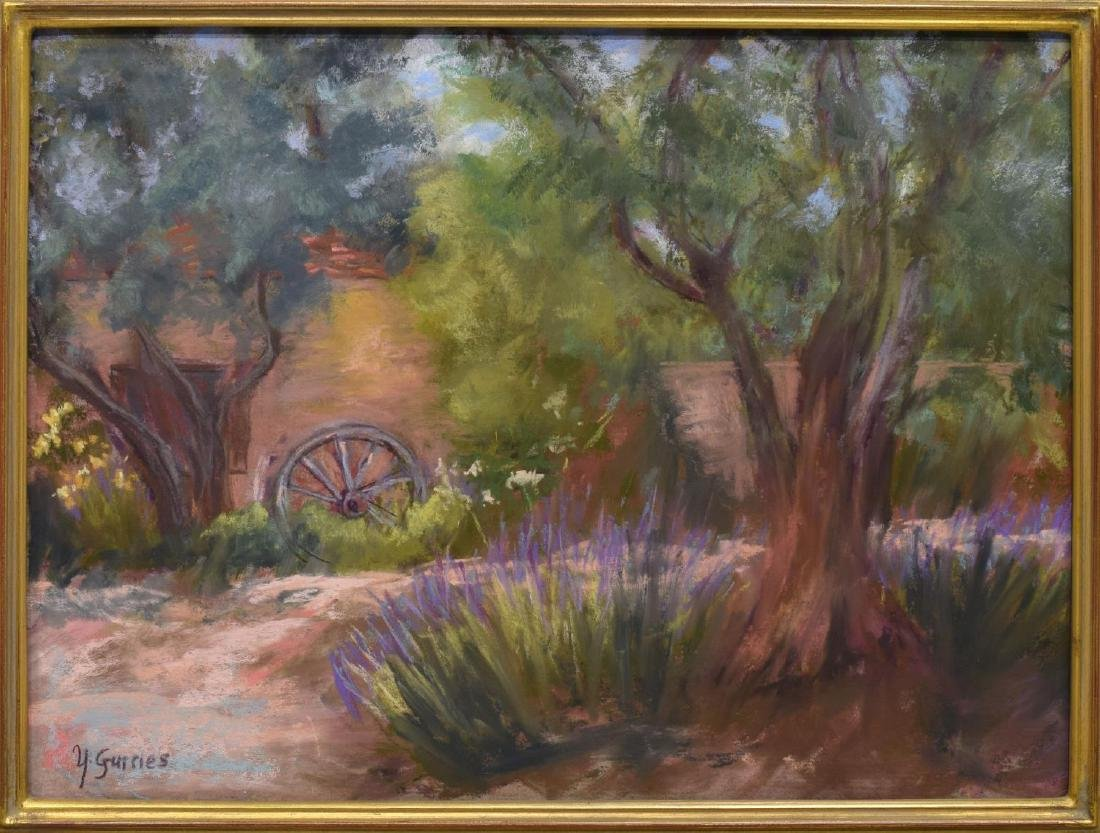 Y. GURRIES (20TH) CALIFORNIA ARTIST, FRAMED PASTEL