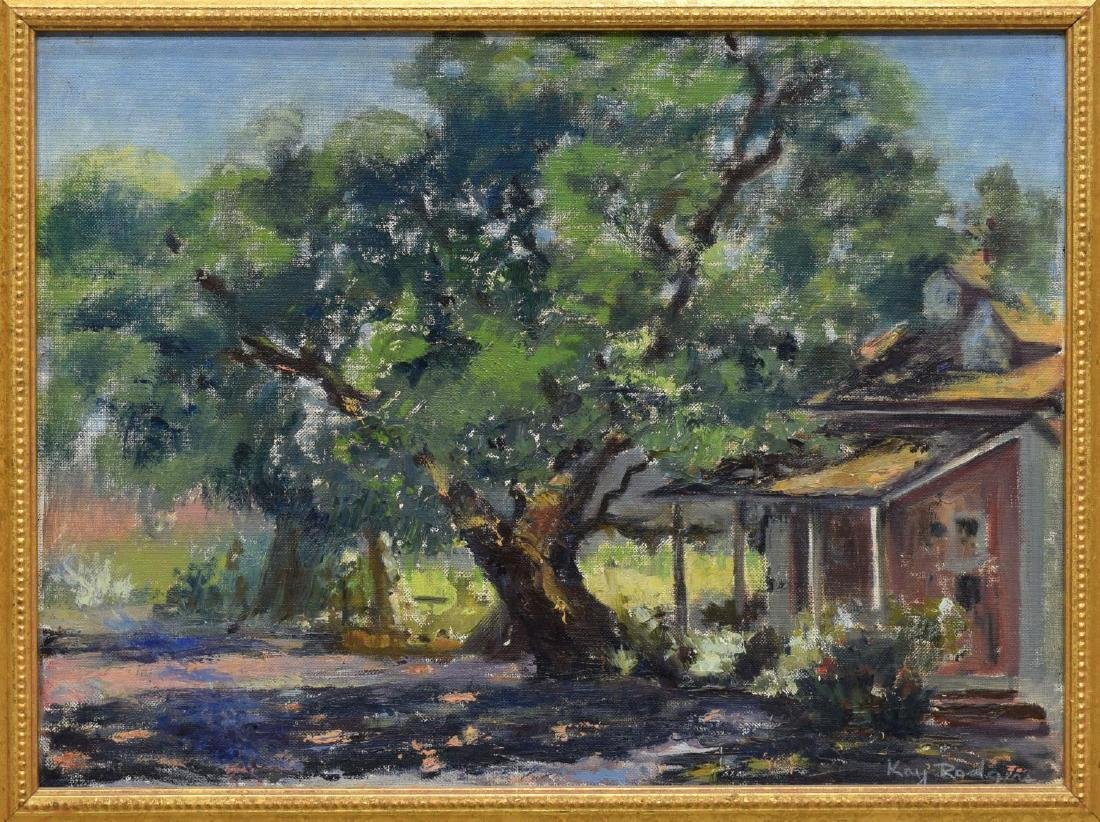 KAY RODGERS (CALIFORNIA, 20TH C.) CARMEL PAINTING