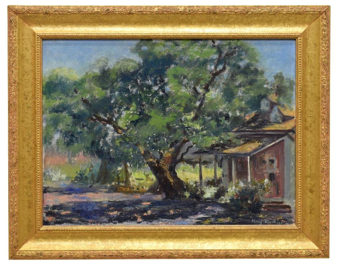 KAY RODGERS (CALIFORNIA, 20TH C.) CARMEL PAINTING - 2