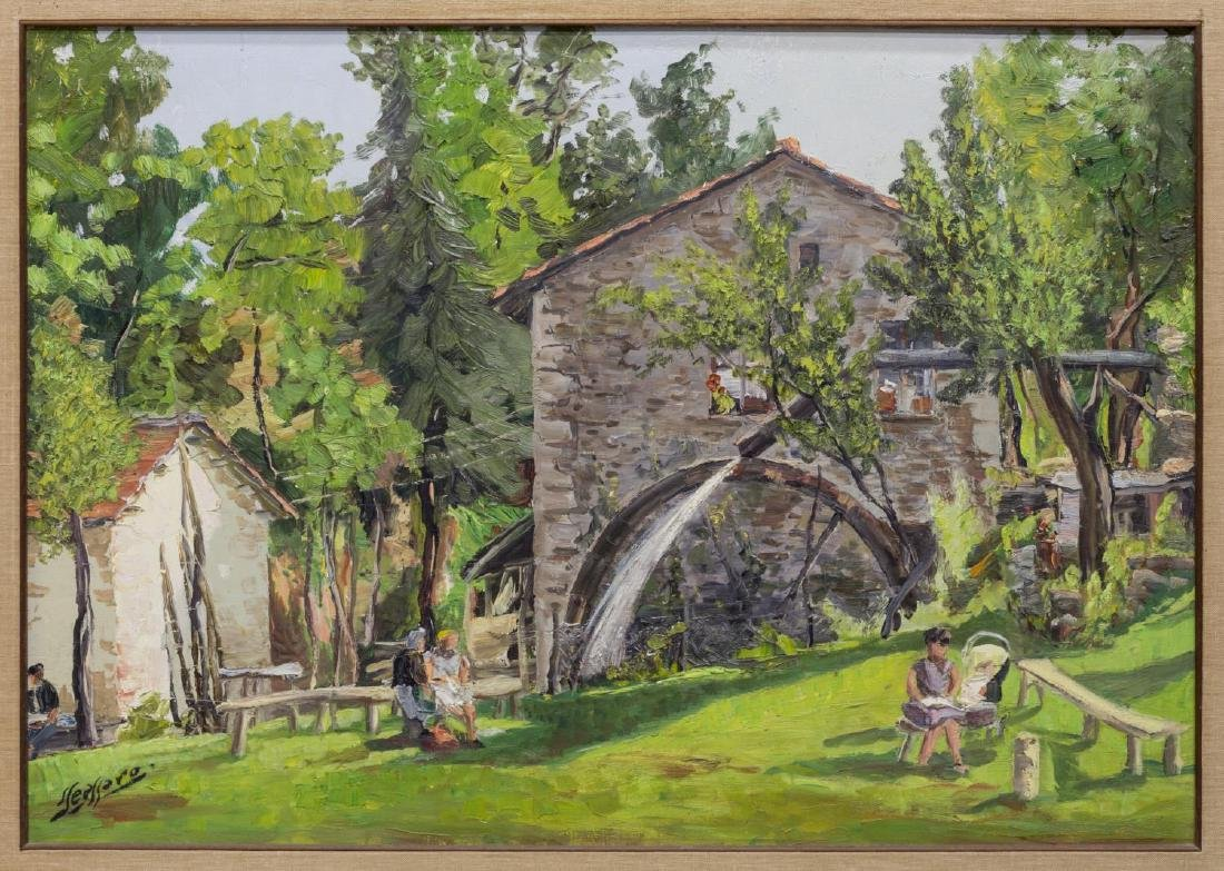 SAVERIO SEASSARO (1917-2016), FRAMED OIL PAINTING