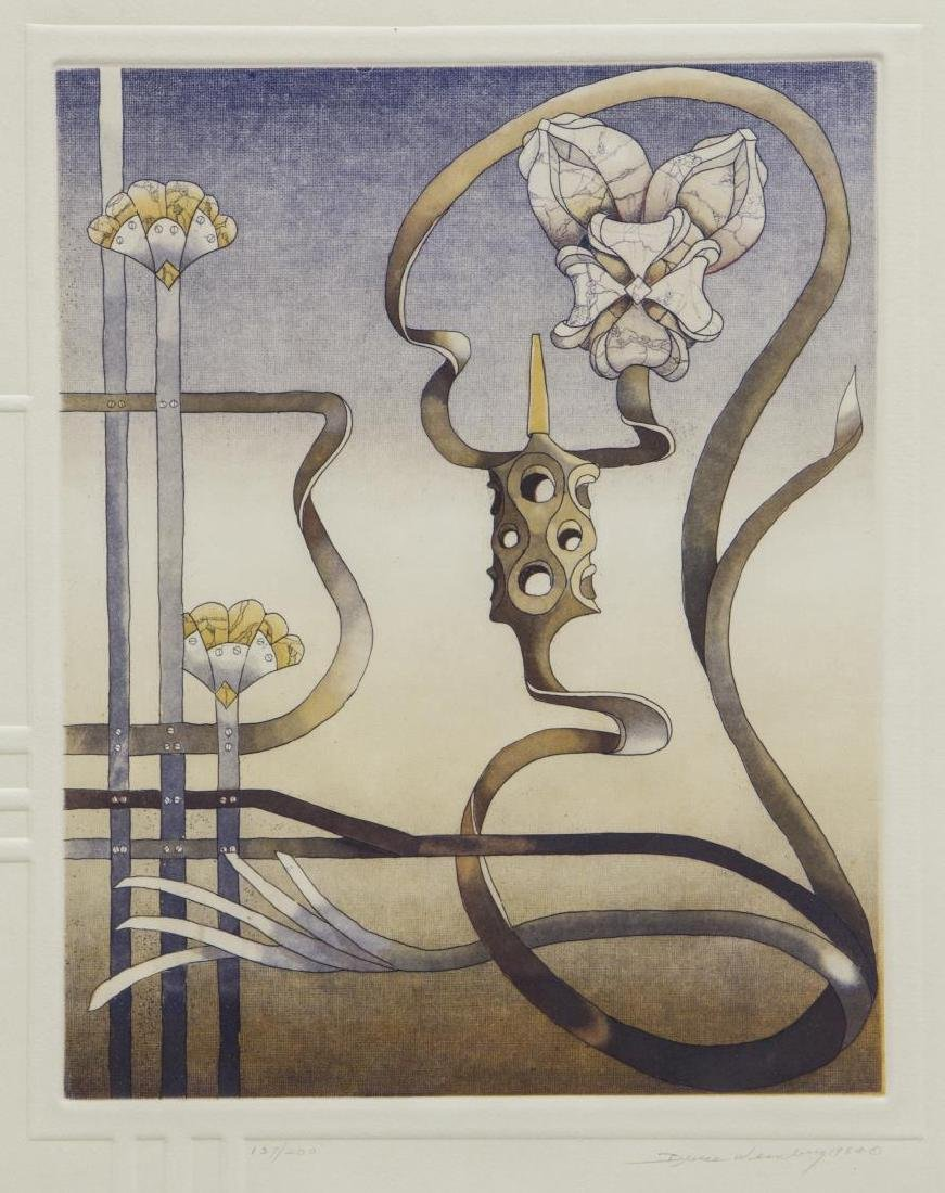 BRUCE WEINBERG (1942-1994), FRAMED TRIPTYCH - 5