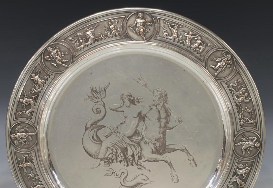 (2) GERMAN SILVERPLATE FIGURAL WEDDING CUP & TRAY - 3