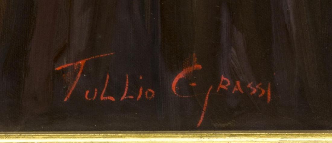 TULLIO GRASSI (20TH) FRAMED OIL PAINTING ON CANVAS - 4