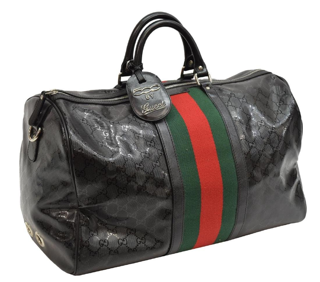2851ac0de FIAT 500 BY GUCCI MONOGRAMMED BLACK WEB DUFFLE BAG - Oct 28, 2017 | Austin  Auction Gallery in TX
