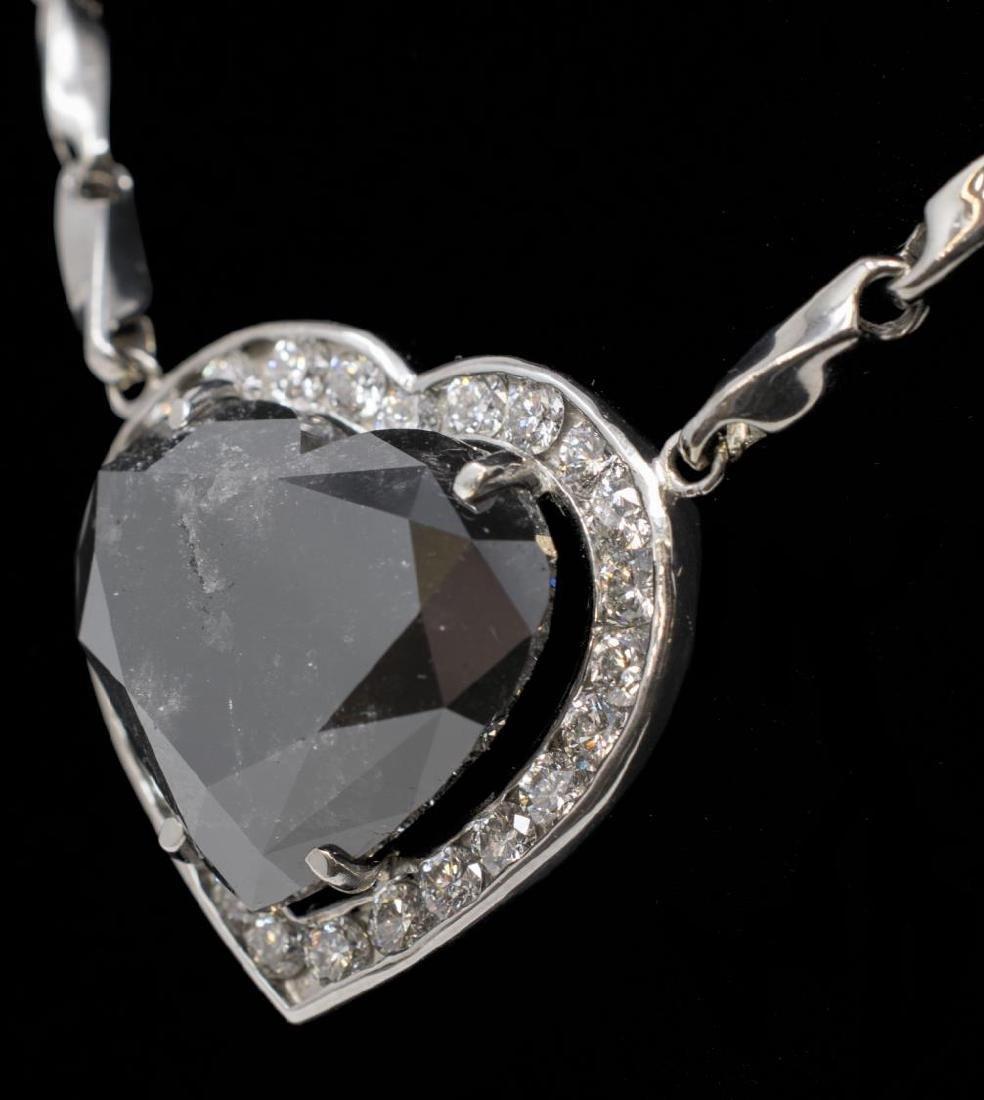 ESTATE 57CT BLACK DIAMOND & 3CTTW DIAMOND NECKLACE
