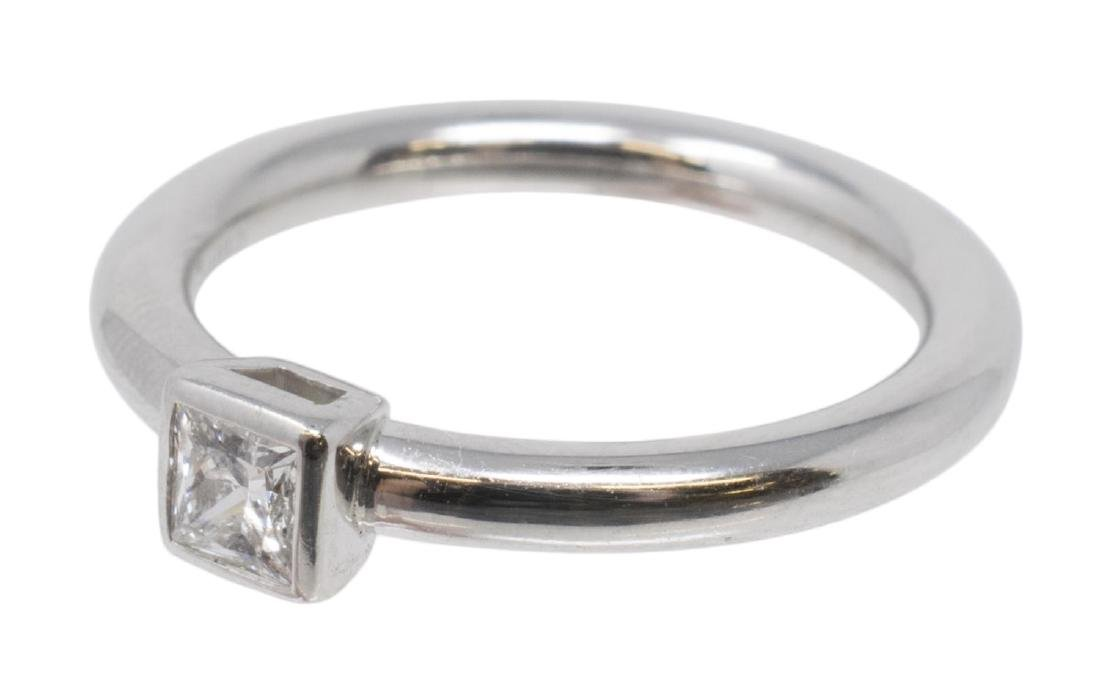 TIFFANY & CO PLAT 0.27 CT DIAMOND SOLITAIRE RING