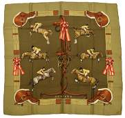 HERMES JUMPING SILK TWILL SCARF