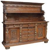 ITALY RENAISSANCE REVIVAL HIGHLY CARVED SIDEBOARD